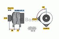 Генератор BOSCH 0986045031, 986045031; HC PARTS CA1584IR; BMW 12317792092, 12312248297 на Опель Омега, BMW 5