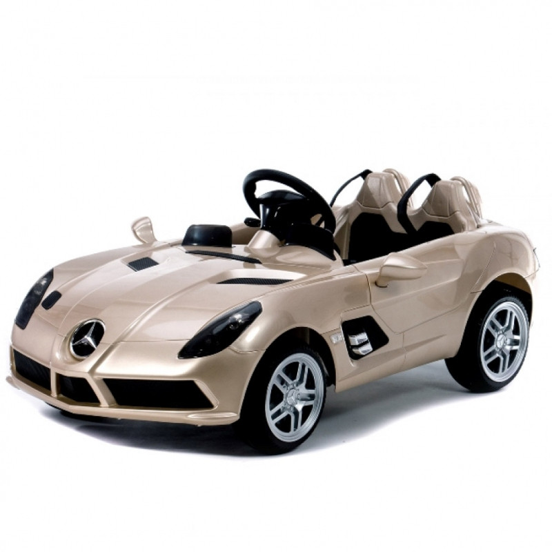 Детский электромобиль Mercedes DMD 158 ERS-3: 2.4G, кожа, 90W, 8 км/ч - ШАМПАНЬ- купить оптом