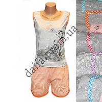 Женская котоновая пижама V47V  оптом со склада в Одессе.