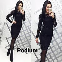 Черное гипюровое платье, фото 1
