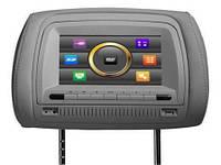 Подголовники с монитором и DVD-проигрывателем Klyde KL 4700 touch screen (серый)