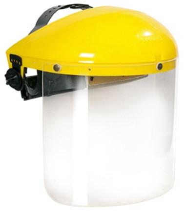 Щиток защитный лицевой НБТ1 Визион (толщина 3 мм) красный наголовник