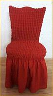 Чехлы  для стульев красное вино (набор 6 шт.)