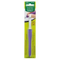 Алюминиевый крючок с мягкой ручкой,Clover,размер 10