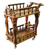 Сервировочный деревянный стол