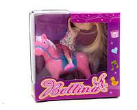Кукла маленькая 6 видов, с мебелью, лошадкой, в кор.13*14*5 см