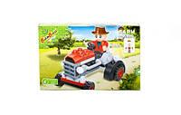 Конструктор BANBAO ферма, трактор, 52 дет, фигурка, в кор-ке, 16-10-3,5см