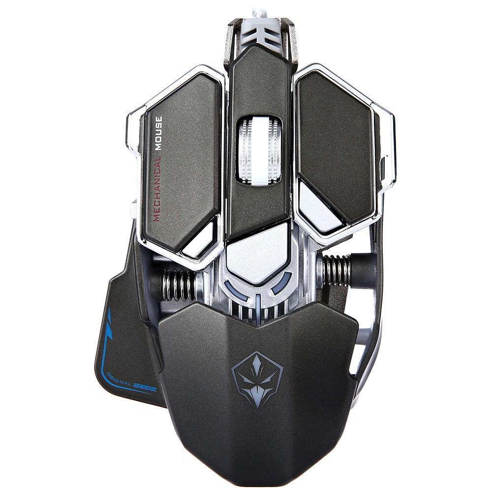 Игровая геймерская металлическая мышь Luom G10 черная