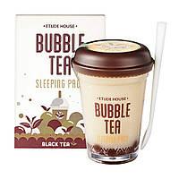 Ночная маска Etude House Bubble Tea Sleeping Pack Black Tea с экстрактом черного чая, фото 1