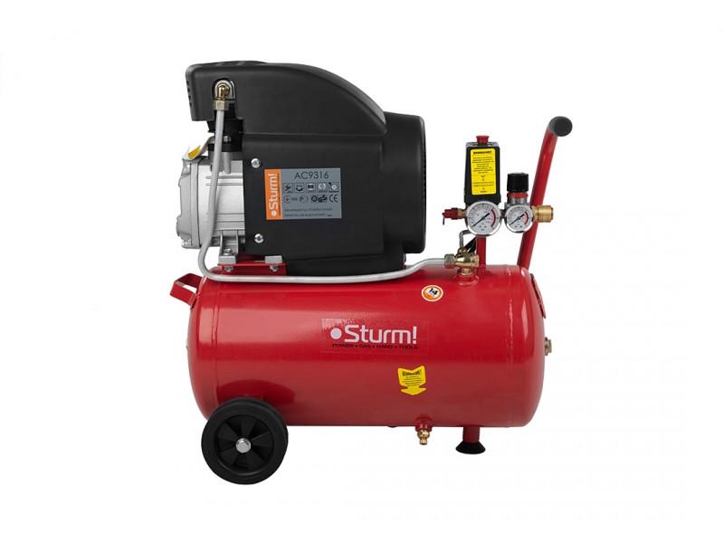 Воздушный компрессор Sturm 1600 Вт, 24 л AC9316