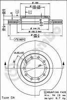 Диск тормозной передний FERODO FCR183A; TRW DF4330; C.E.I. 215049; 5010260604 на Renault Mascott