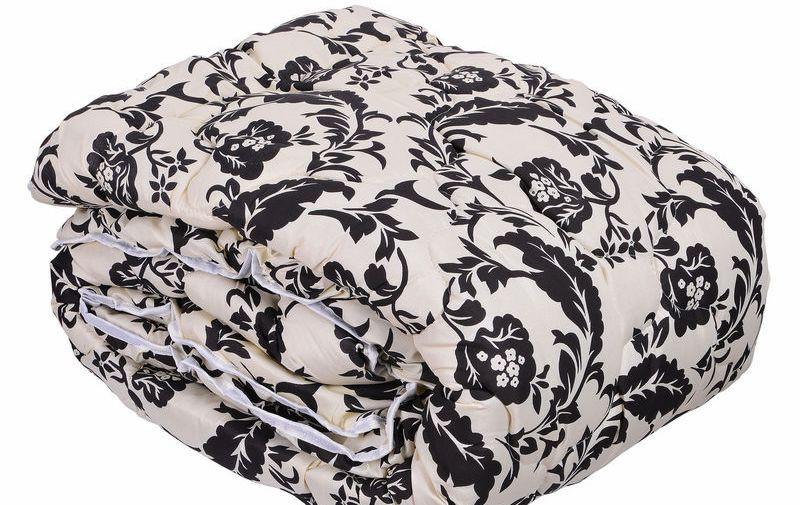 Одеяло закрытое овечья шерсть(Бязь) Евро