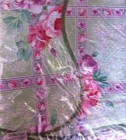 Скатерть кухонная розовые цветы