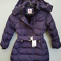 Куртка зимняя на девочку подростоковая  на кнопках и поясе SEAGULL., фото 1
