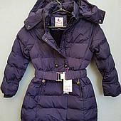 Куртка зимняя на девочку подростоковая  на кнопках и поясе SEAGULL.