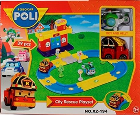 Автотрек- Пожарная станция Роя Poli Robocar