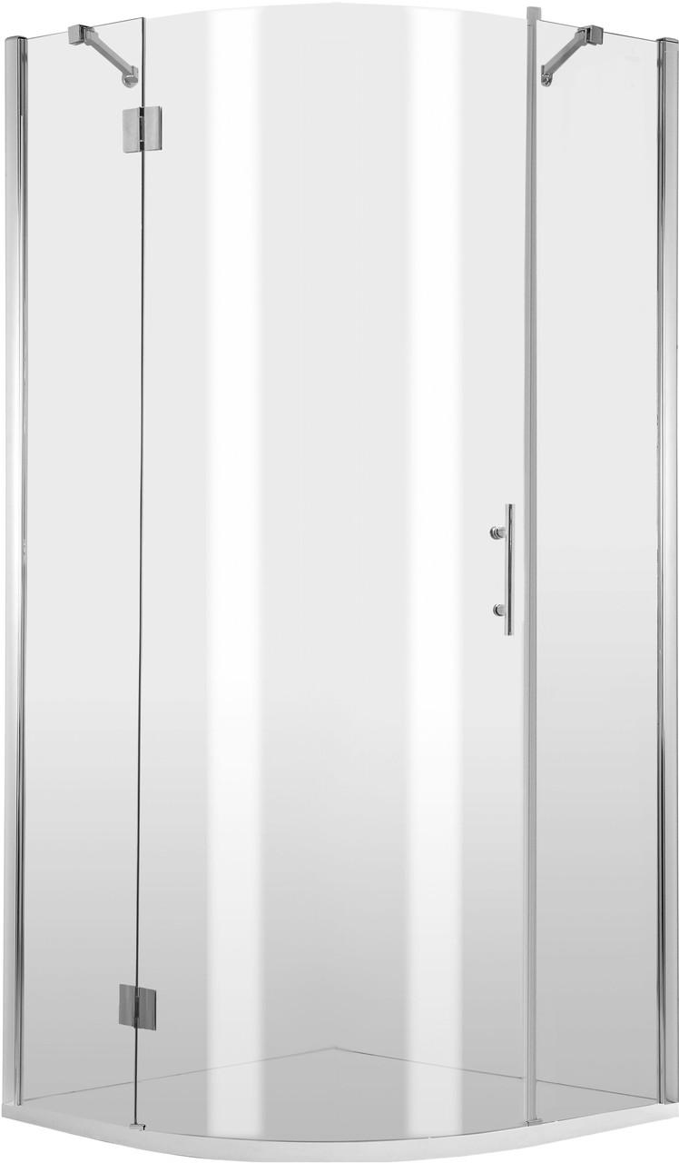 Душевая кабина полукруглая Deante ABELIA, стекло прозрачное,трехстворчатая, левая, 90 см