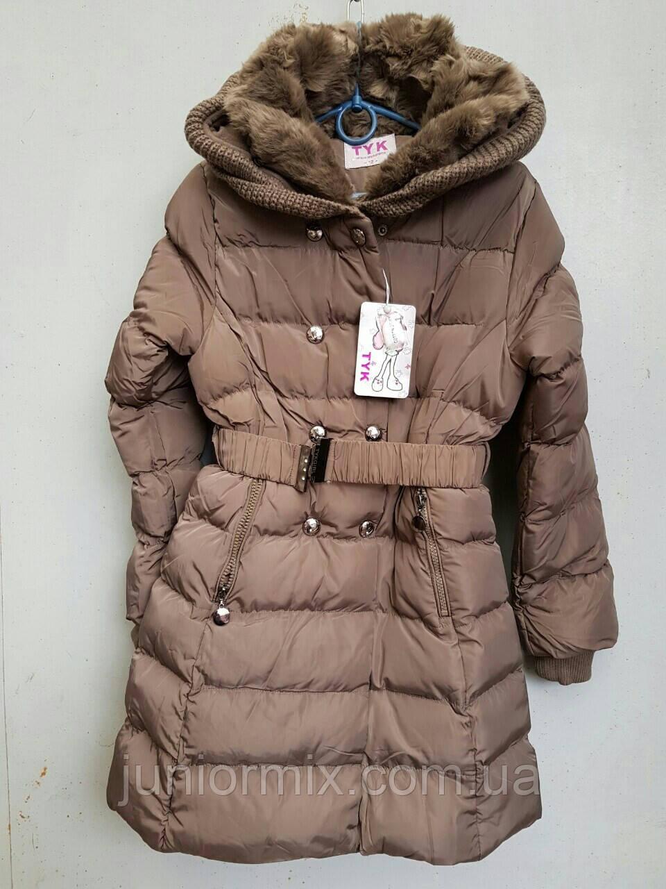 6a11f880eafe Купить Куртка зимняя на девочку под пояс TYK. в Хмельницком от компании