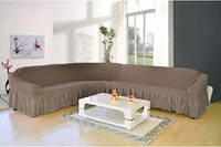 Чехол на угловой диван  ТМ Karven, цвет какао