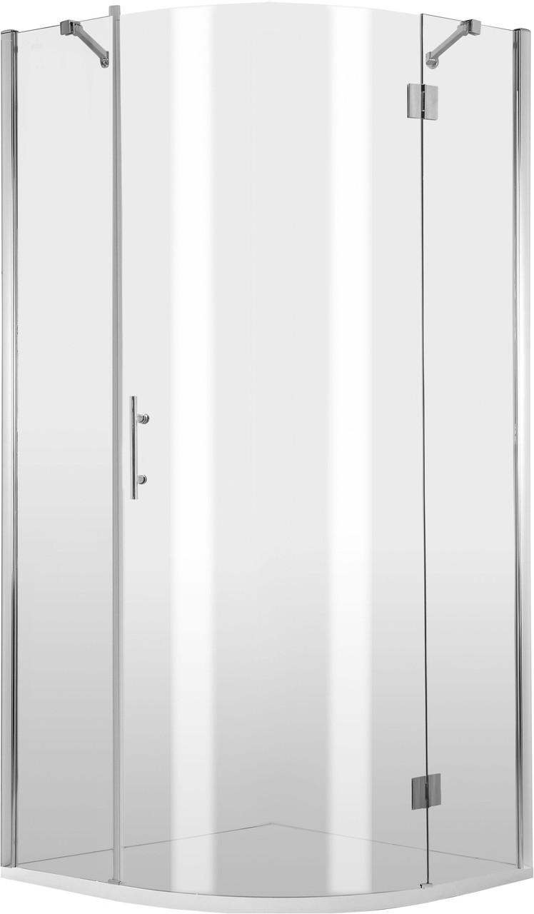 Душевая кабина полукруглая Deante ABELIA, стекло прозрачное,трехстворчатая, правая, 90 см