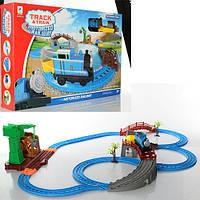 ЖД 660-43 (9шт) TH, локомотив, вагон, мост, кран, на бат-ке, в кор-ке, 56-36,5-9см