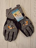 Детские краги, рукавицы не промакаемые горнолыжные для мальчика