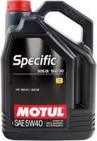 Моторное масло Motul Specific 505 01 502 00 505 00 5W-40 5л