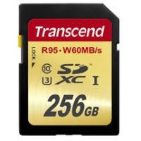 Карта памяти TRANSCEND SDXC 256 GB UHS-I Ultimate U3 (R95 W60MB/s)