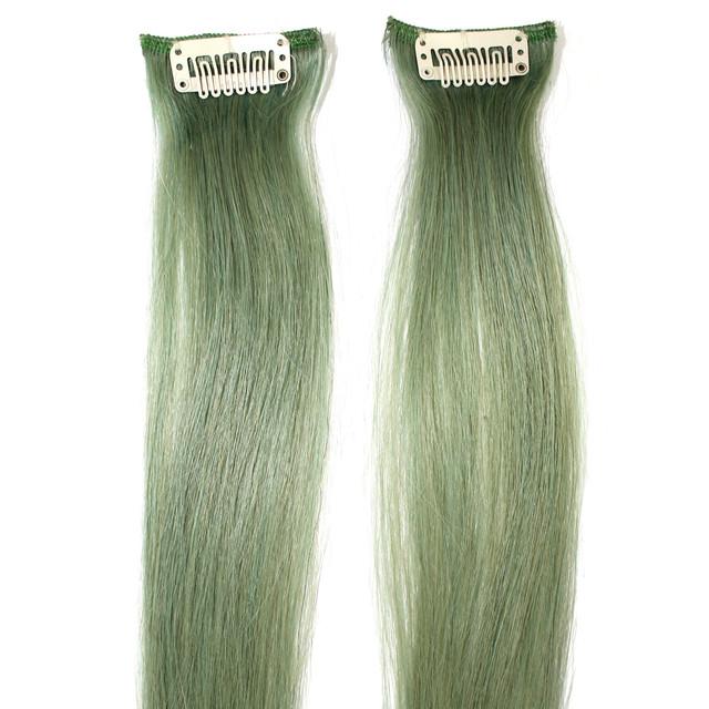 Прядь натуральных волос на заколке туркус, фото 1