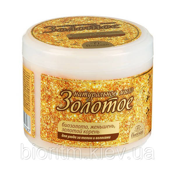 Золоте натуральне мило для ванни і душа Флоресан 450 г