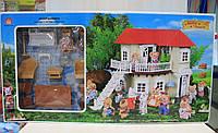 Набор мебели с флоксовыми фигурками животных в коробке 65*34*17 см