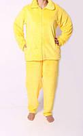 Махровый женский костюм для сна желтого цвета 4552/3