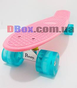 "Пенни борд Penny Classic Pastel 22"" светящиеся Светло Розовый (2T2029)"