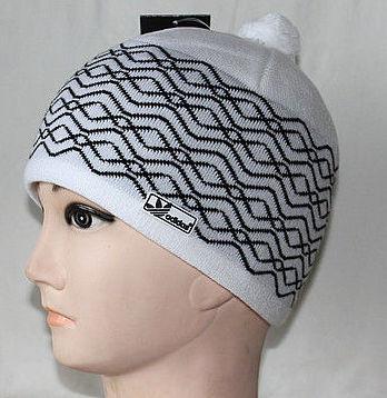мужская вязаная шапка C бубоном зимние шапки оптомшапка Adidas
