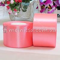 Атласная лента 5 см, №5 розовый, рулон 23 м