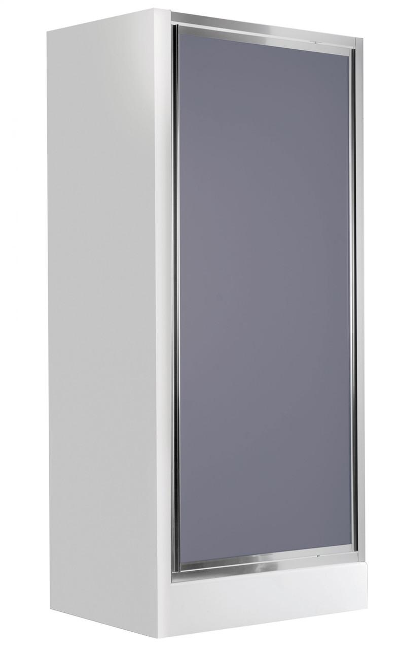 Душевые двери для ниши Deante FLEX, распахивающиеся, стекло графитовое, 80 см.