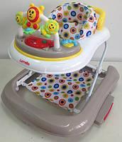 Детские ходунки CARRELLO CRL-9602BEIGE с качалкой с качалкой