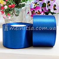 Атласная лента 5 см, №40 синий, рулон 23 м