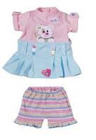 Набор для куклы платьице и юбочка с шортами Zapf Creation 818084 Nie