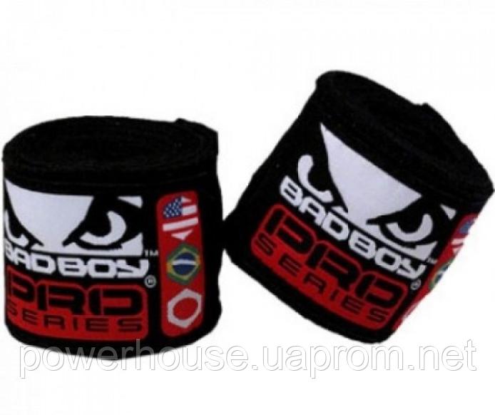 Бинты боксерские Bad Boy 2,5m Red