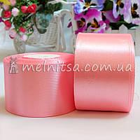 Атласная лента 5 см, №147 нежно-розовый, рулон 23 м