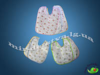 Слюнявчики для новороденных на завязках оптом, Турция. В упаковке 12 шт.