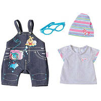 Джинсовая одежда для куклы Baby born Deluxe Jeans Collection Zapf Creation 822210 Spo