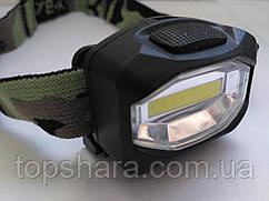 Налобный фонарь Bailong BL-3088-COB, фонарик, лента 8 светодиов, AAA