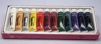Краски акриловые для китайской росписи 12 штук по 15мл.9на силиконовой основе)