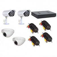 Видеонаблюдения на 4 камеры (готовый набор) DVR KIT AHD 7904
