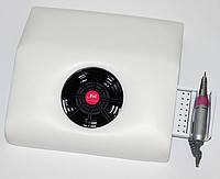 Salon-932 Вытяжка настольная (пылесос) с подставкой для ручки фрезера и ячейками для насадок., фото 1