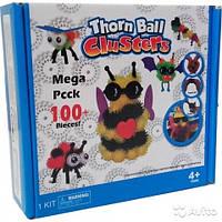 """Мягкий конструктор липучка 100 """"Вязкий пушистый шарик"""", шарики липучки, интерактивная игрушка, развивающий"""