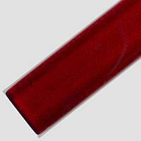 Стеклянный фриз (Бордюр) для плитки красный (Karmazin) 2.3*60
