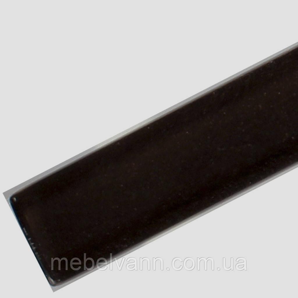 """Стеклянный фриз (Бордюр) для плитки черный """"Сириус"""" 2.3*50"""